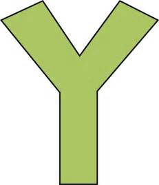 Green alphabet letter y png