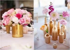 Gold Vase Wedding Centerpiece 40 Romantic Pink And Gold Wedding Color Scheme Ideas