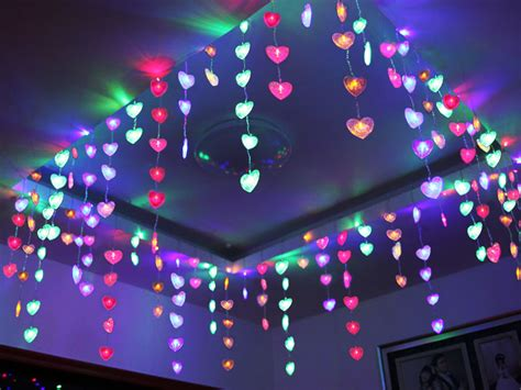 led string heart shape net light fairy christmas xmas
