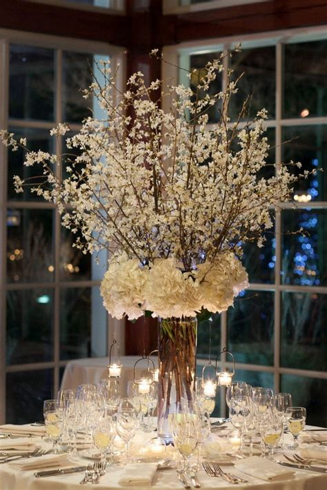20 creative winter wedding ideas for 2015 tulle - Winter Wedding Tree Centerpieces