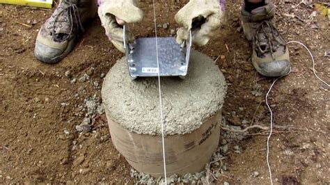 adding bracket  concrete footer finishing sonotube