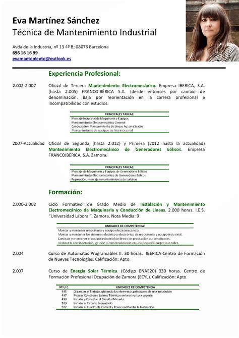 Modelo Curriculum Vitae Para Hosteleria m 237 rate el ombligo curriculum por competencias