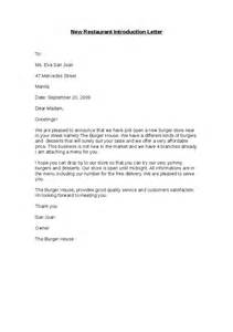 Company Introduction Letter To Architects New Restaurant Introduction Letter Hashdoc