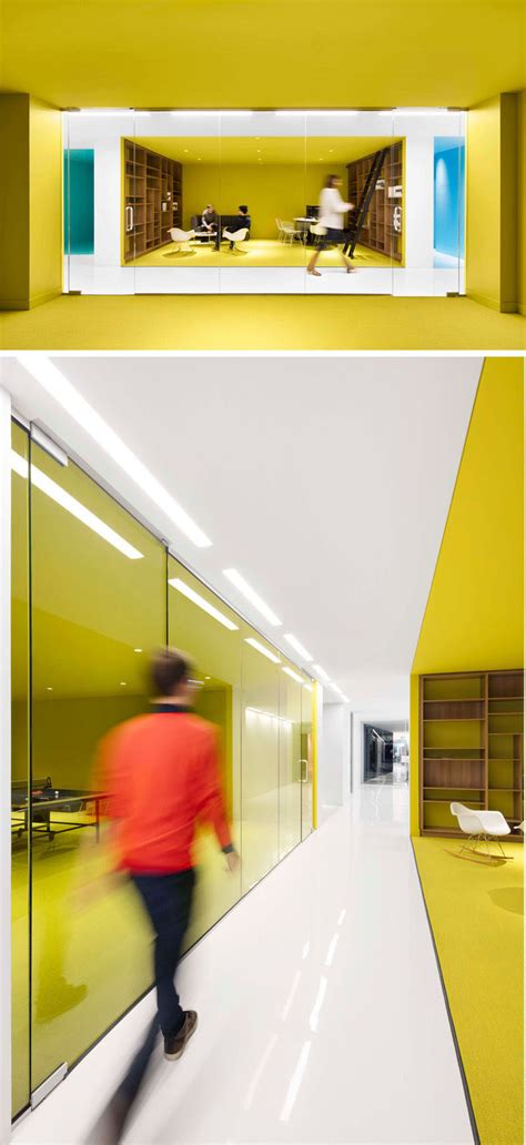 office interior  color  create distinct spaces