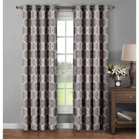grommet curtain panels 96 window elements semi opaque avila printed cotton extra