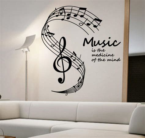 music note home decor music notes wall decal medicine of the from stateofthewall on
