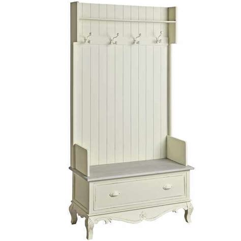hall storage bench with hooks shabby chic cream hall storage unit chair bench hooks cottage country h7845 163
