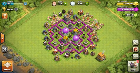 layout coc paling kuat th 7 base th 6 terbaik dan terbukti paling kuat update terbaru