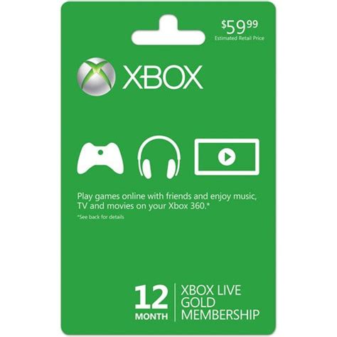 best price xbox live xbox live 12 month gold membership card in