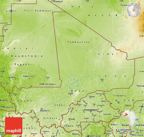 map of mali mali geographischen karte