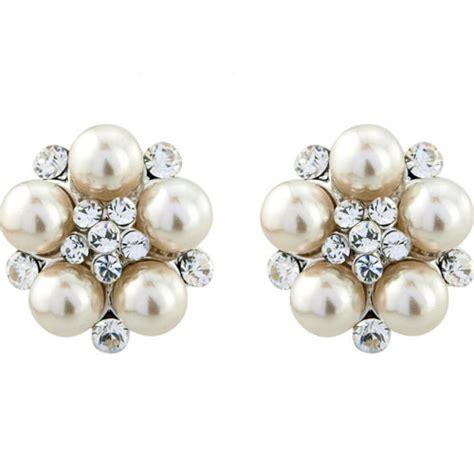 Wedding Clip On Pearl Earrings clip on pearl wedding earrings zaphira bridal