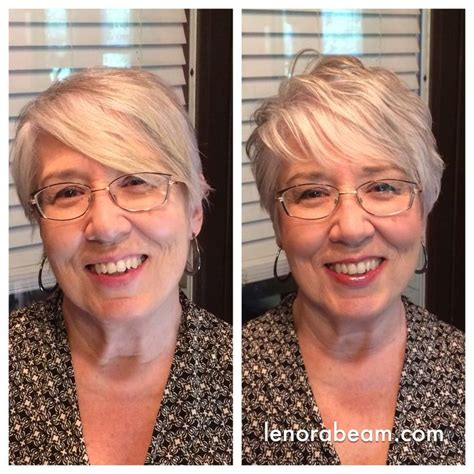 long hair makeovers before and after makeover before and after sassy gray short hair