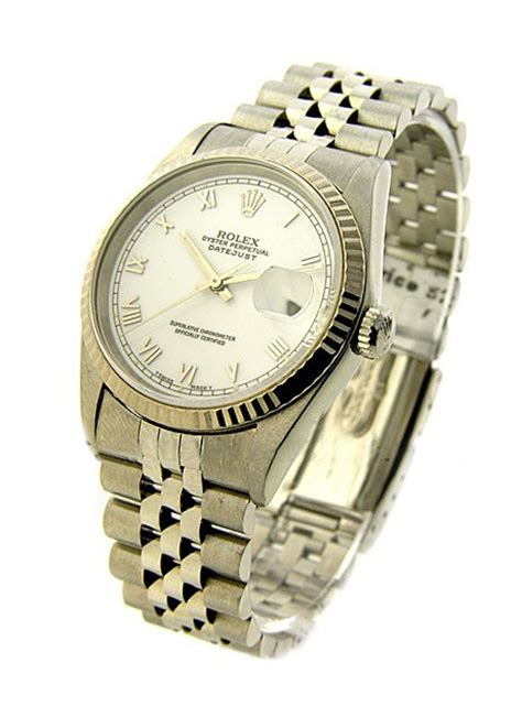 Rolex Date Just Wg For 16234 rolex datejust 36mm steel with jubilee wg fluted