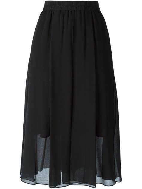 by malene birger pleated sheer skirt in black lyst