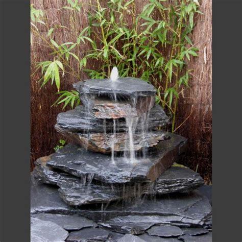 fontaine et cascade de jardin cascade 225 fontaine de jardin gris noir 7 pi 232 ces monolithique