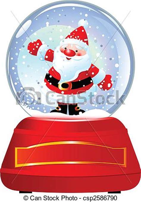 santa  snow globe santa claus  snow globe vector illustration