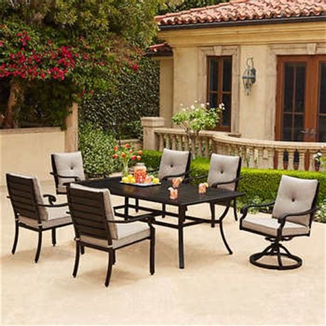 beaumont patio furniture beaumont 7 piece patio dining set
