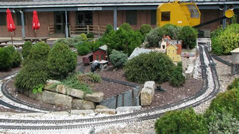 outdoor model railway trains at the b o railroad museum