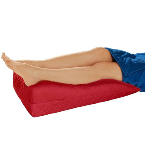 bed wedge pillow for legs red orthopaedic contour leg raise pillow foot rest cotton