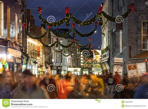 shop street at night galway stock photo image 36004090