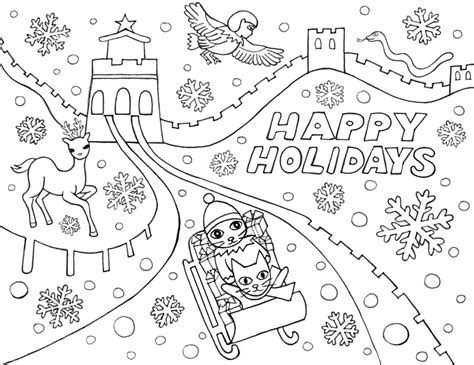 free coloring pages happy holidays free coloring pages of happy holidays
