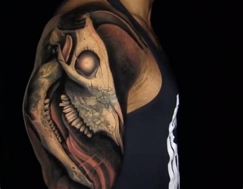 the rock s arm tattoo in faster the rock s elaborate new tattoo that took 30 hours is
