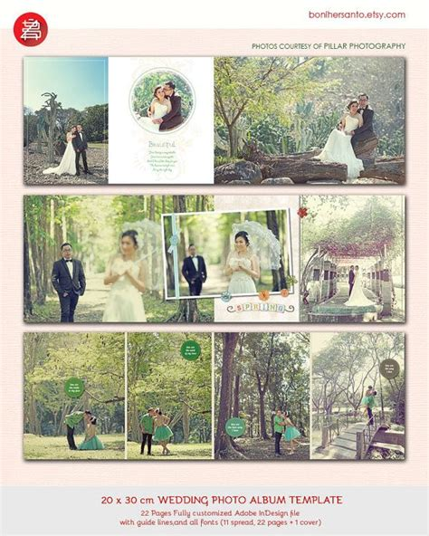 20 Pages Wedding Photo Album Design Template 12x15 Modern And Minimalist Style For Indesign Indesign Photobook Templates