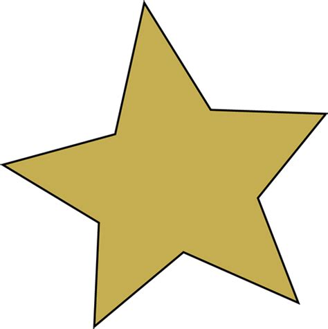 printable golden star gold star template clipart best