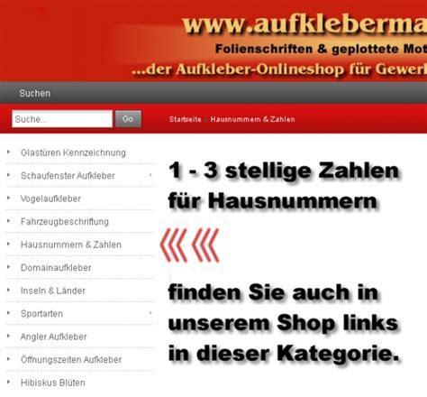 Aufkleber Zahlen Bestellen by Aufklebermachershop Zahlen Aufkleber G 252 Nstig Online