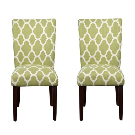 Green Parsons Chair by Parsons Chair Green Apple Set Of Two Meadow Parsons