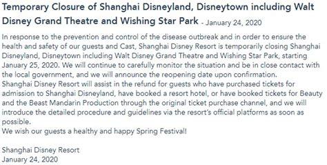 news shanghai disney resort  close indefinitely