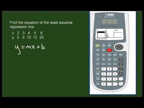 calculator regression finding the regression line using a 2 variable scientific