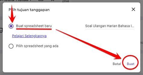 menyimpan hasil jawaban google form  file excel