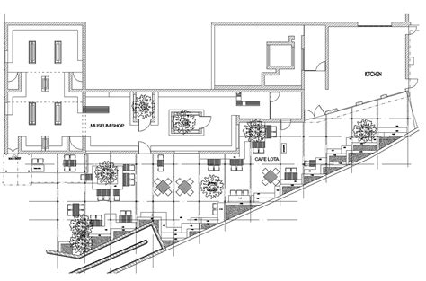 Shop Building Floor Plans Cafe Lota And Museum Shop