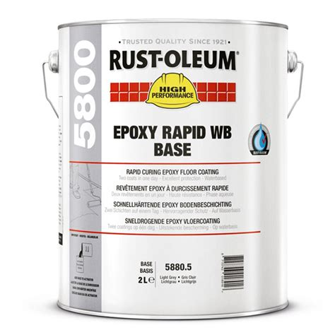rust oleum 5800 epoxy rapid wb floor paint rawlins paints