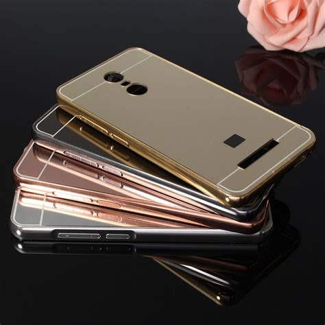luxury metal frame mirror back cover skin bumper for