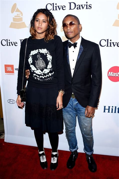 what is helen lacishanh mixed with celebrity style pharrell miguel attend pre grammy gala