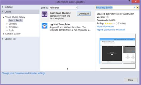 installing bootstrap visual studio 2015 asp net mvc customizing bootstrap templates technet