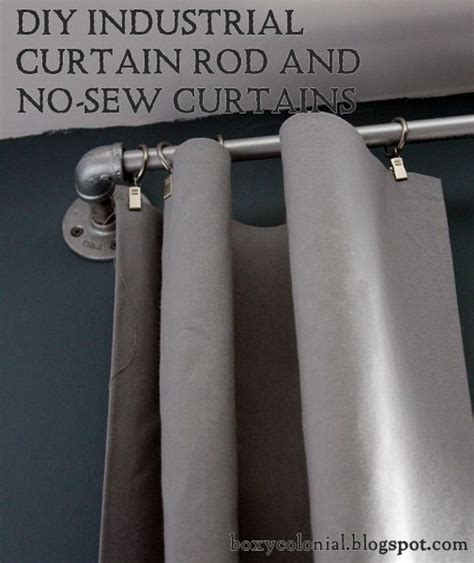 diy industrial curtain rods and no sew curtains an ari s