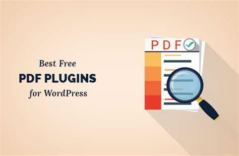 best wp plugins 9 best pdf plugins for