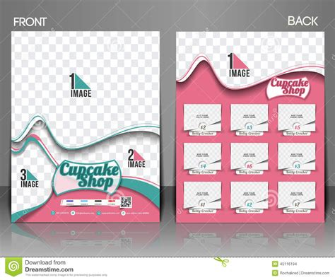 Cup Cake Shop Flyer Stock Vector Image 45116194 Cake Brochure Template Free