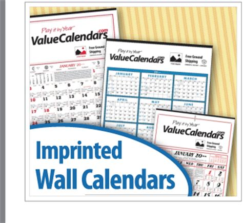 Promotional Calendars Imprinted Wall Calendars Promotional Wall Calendar