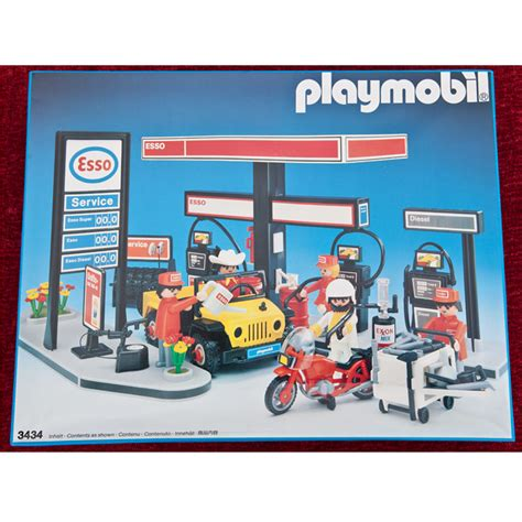 vintage esso playmobil garage 3434 c1980 boxed and