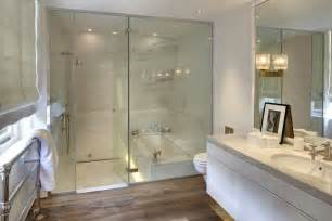 Shower In Bath Bathtub In Shower Contemporary Bathroom