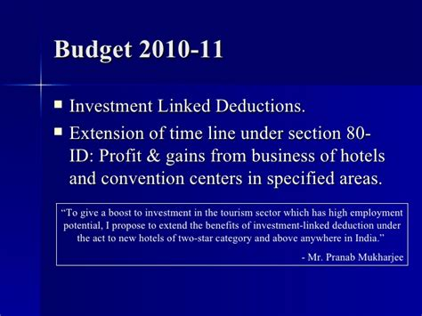 deductions under section 80 laws governing hotel industry