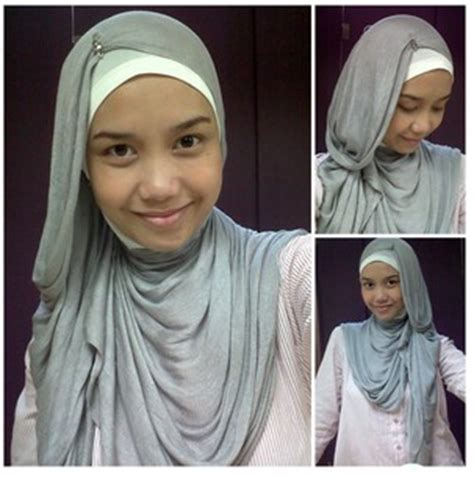 cara memakai jilbab kantor simple cantik tutorial
