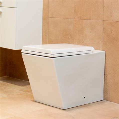 square toliet durab milan square back to wall toilet pan with soft close