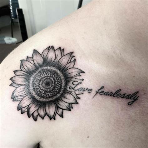 sunflower tattoo on shoulder tumblr best 25 sunflower tattoo shoulder ideas on pinterest