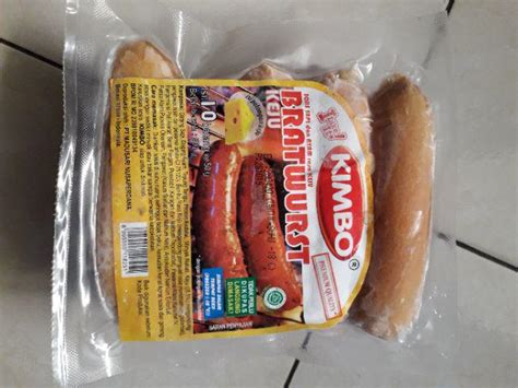 kimbo sausage bratwurst sosis bakar sapi keju gr