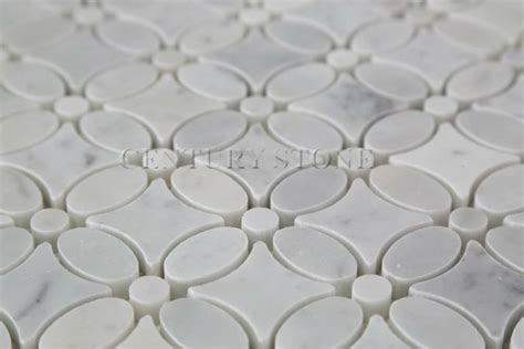 Flower Design Floor Tiles | oriental white marble floor flower tiles design buy